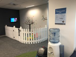 New centre play area and water cooler