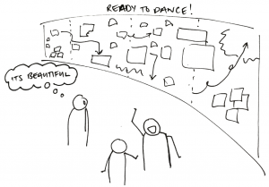 A wall to dance by