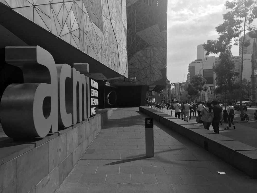 Flinders Street entrance to the ACMI museum