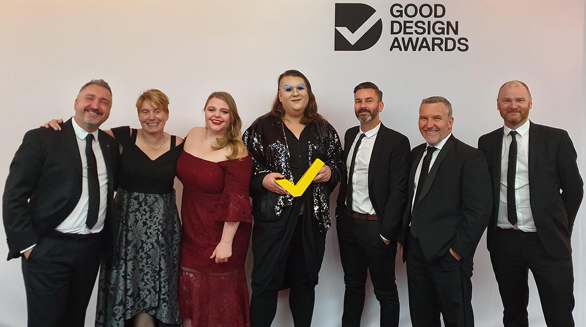 Team winning Good Design Gold Award