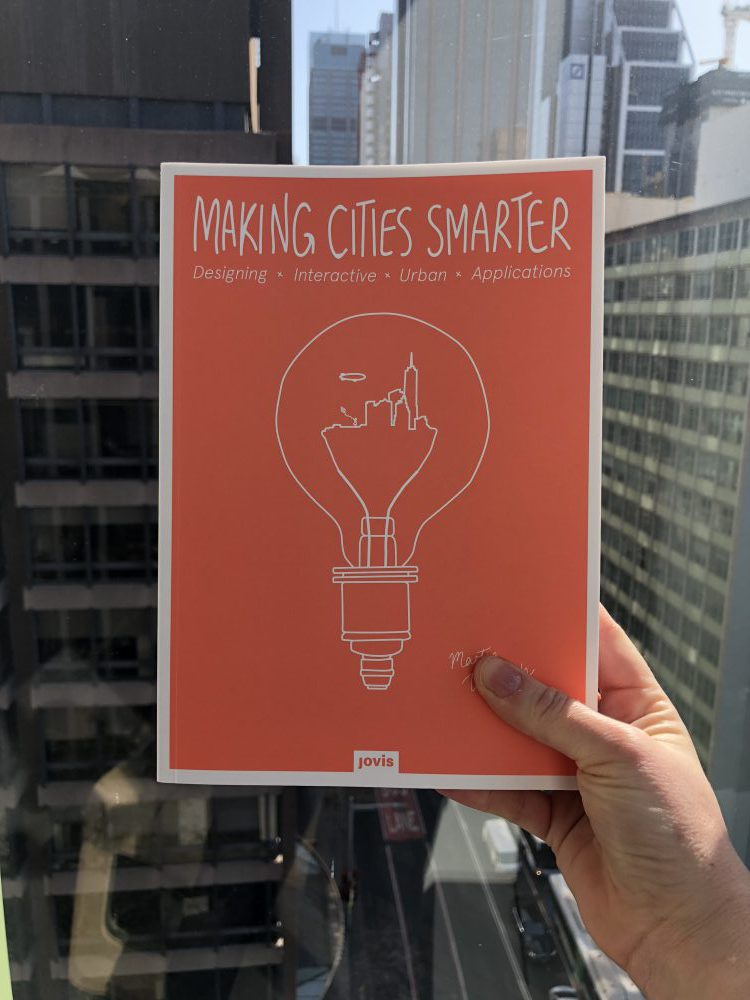 front over of book - Making Cities Smarter - with Sydney city in the background