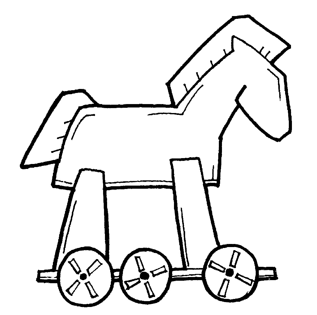 drawing of a Trojan Horse